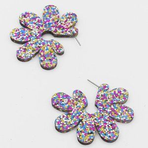 Glitter Daisy Earrings